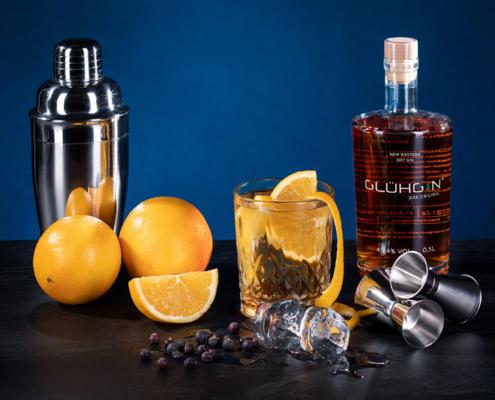 Rezept für einen super leckeren und erfrischenden GLUEHGIN mit Ginger Ale!
