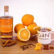 Ein warmer Gin-Cocktail mit Kirsche und Cranberry