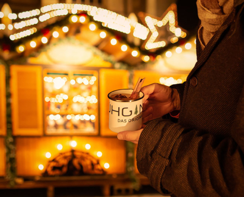 Glühgin als Alternative zum Glühwein gibt es auf dem Weihnachtsmarkt Diedelsheim. Das Trendgetränk im Winter 2019. der pefekte Glüh-Gin.